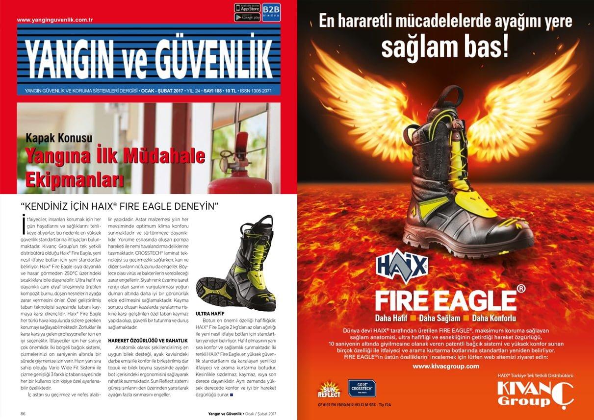 Jan - Feb 2017 issue of Turkish (Yangın ve Güvenlik) fire and safety magazine