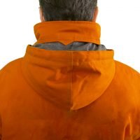 Water and windproof hidden hood with drawcord