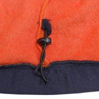 Etek ucunda garni kumaşından yapılmış tünel içerisinde ayarlanabilir kordon ve çift delikli stoper