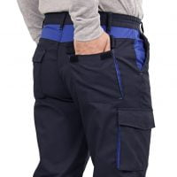 Semi bellow cargo pockets on the back with flaps closed by Velcro tape